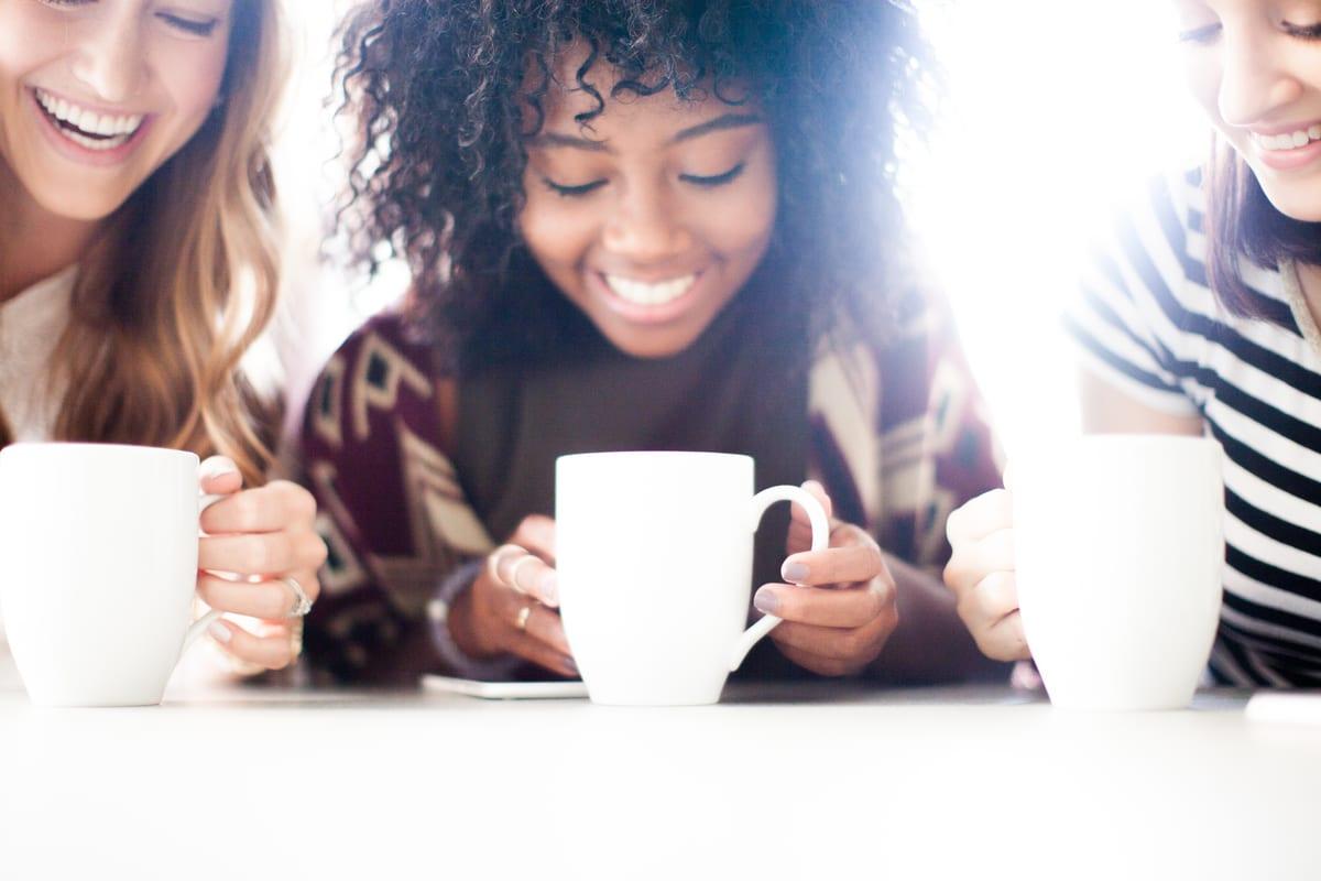 Close Friends Sharing Coffee or Tea
